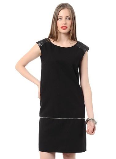 Asymmetry Kolsuz Elbise Siyah
